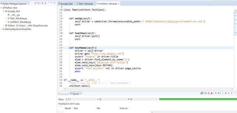 Selenium with Python-Setup – KV